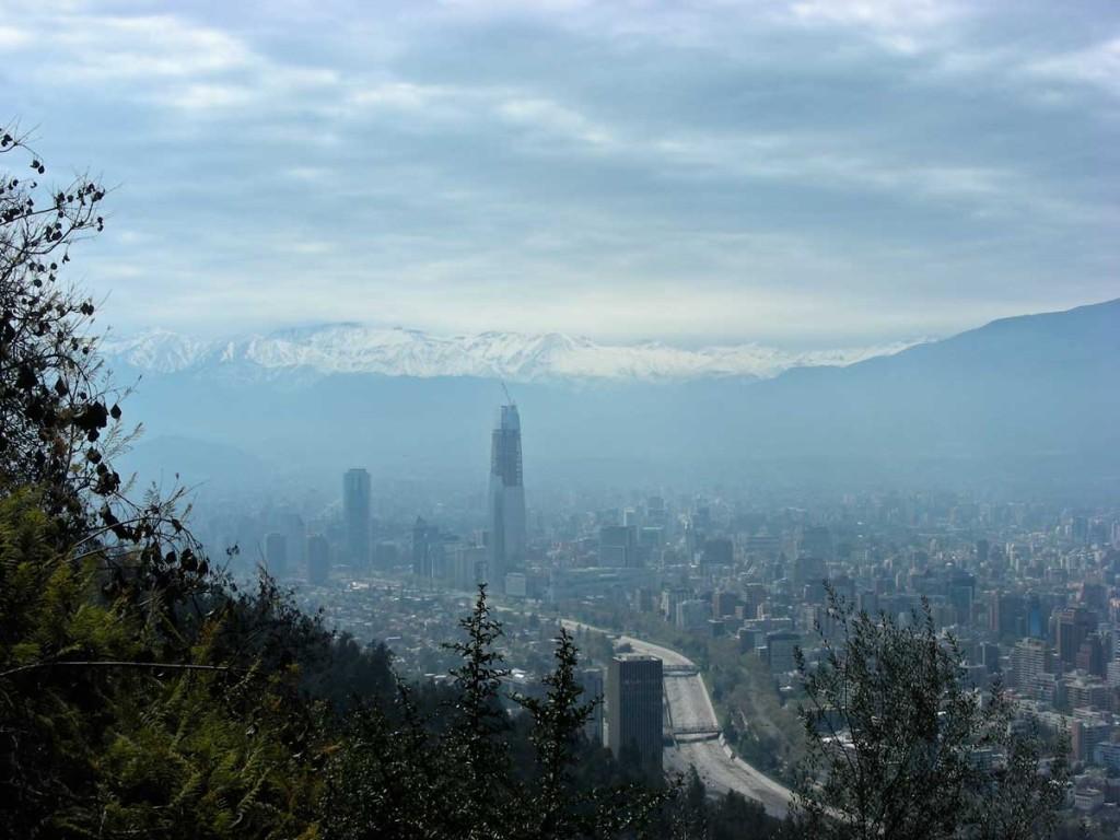 Santiago, looking east from Cerro de San Cristóbal