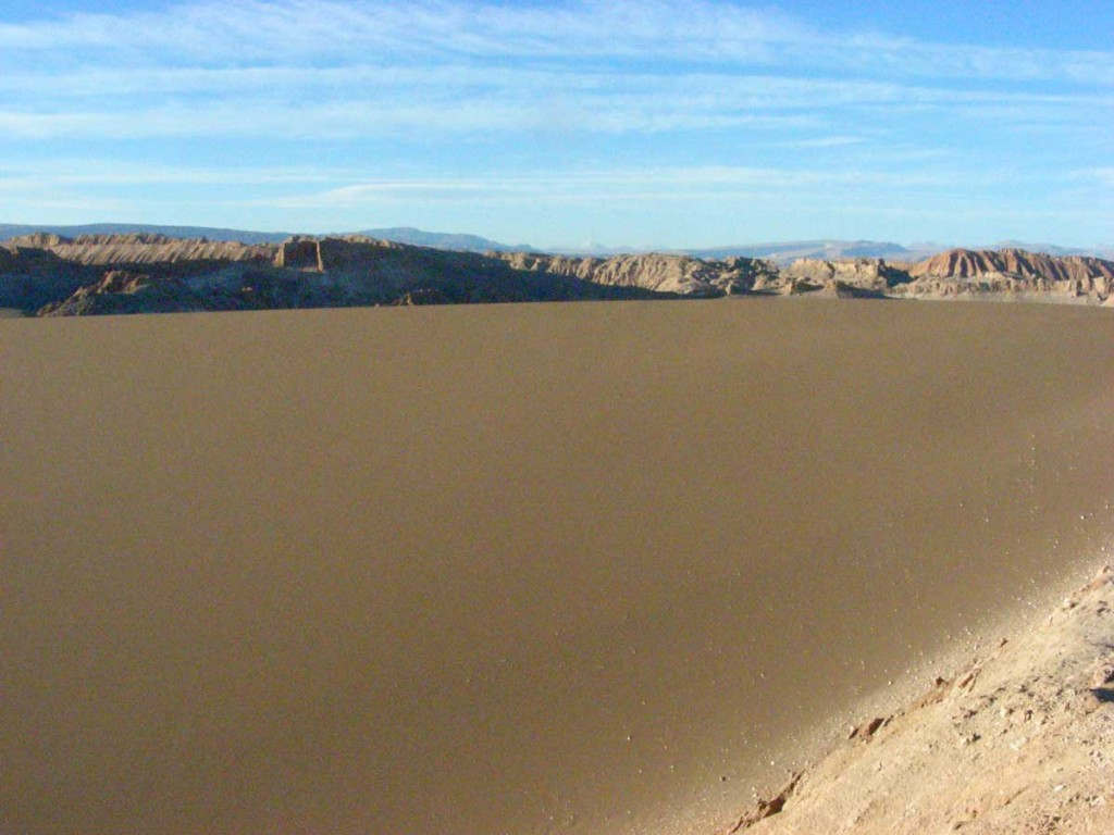 Giant dune in Valle de la Luna, near San Pedro de Atacama