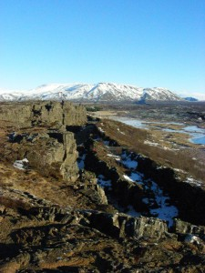 The mid-Atlantic ridge (America on left)